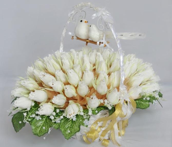 Свадебный сладкий букет своими руками