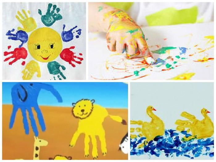 Краски для детей рисуем пальчиками