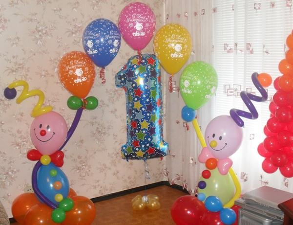 как украсить комнату мальчику на 1 год на день рождения