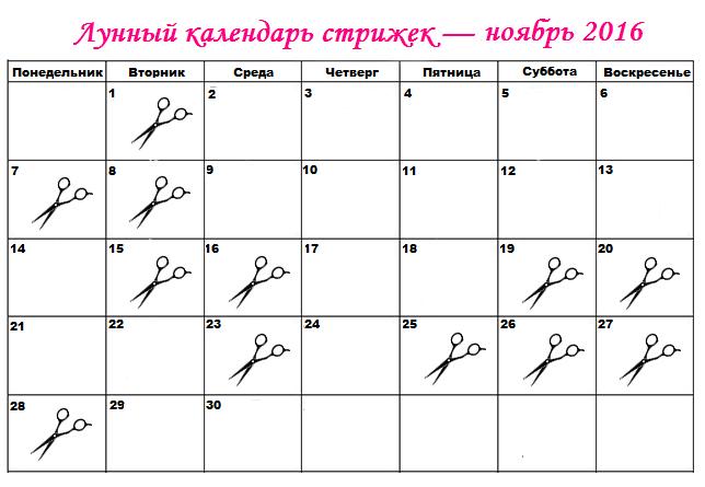 Декабрь когда стричь волосы по лунному календарю
