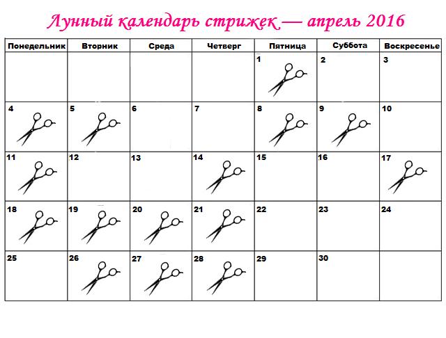 Стрижка волос по лунному календарю на май 2016 год