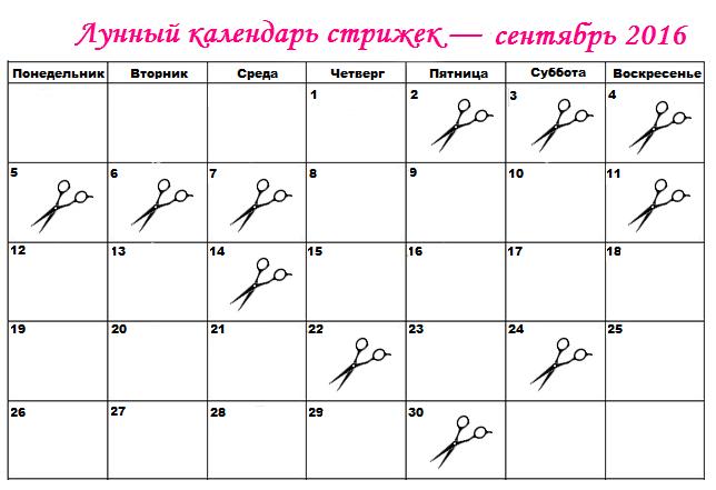 стрижка по лунному календарю на октябрь