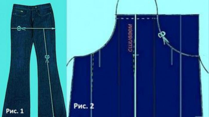 Как сшить себе сарафан из старых джинс