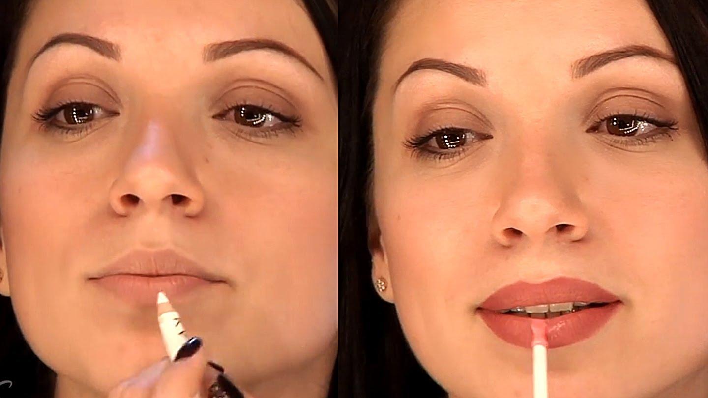 Как с помощью макияжа увеличить губы