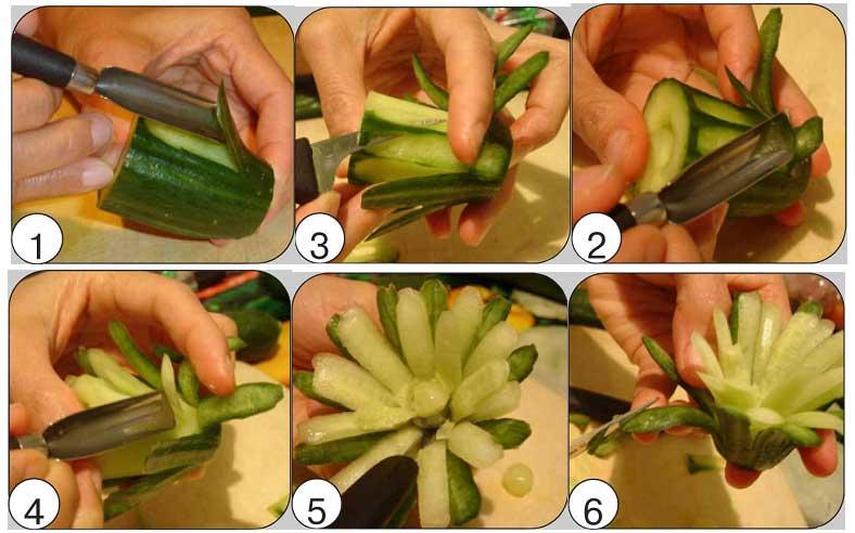 Украшение из овощей своими руками поделки 21