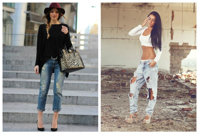Черные джинсы с вышивкой с чем носить