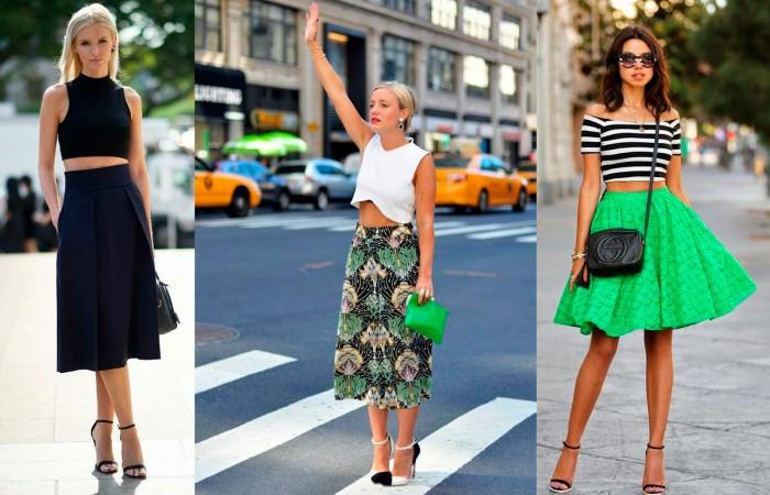 стильные юбки осени
