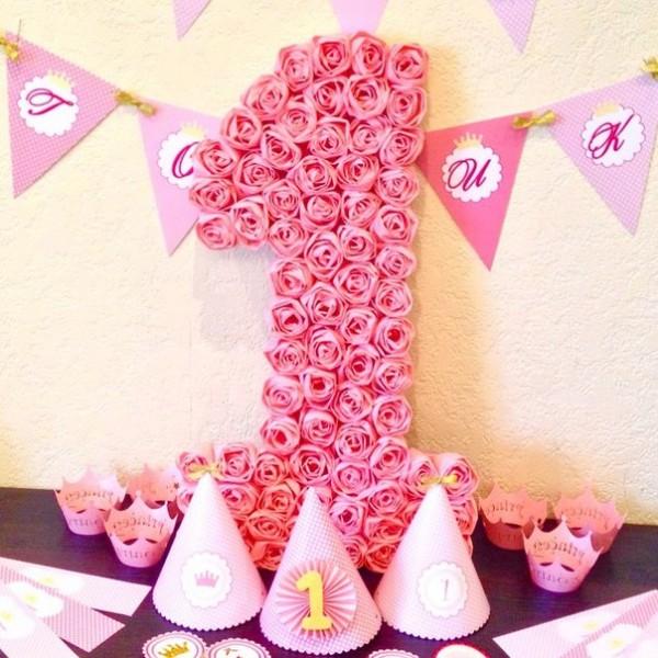 Цифра 1 на день рождения своими руками красиво