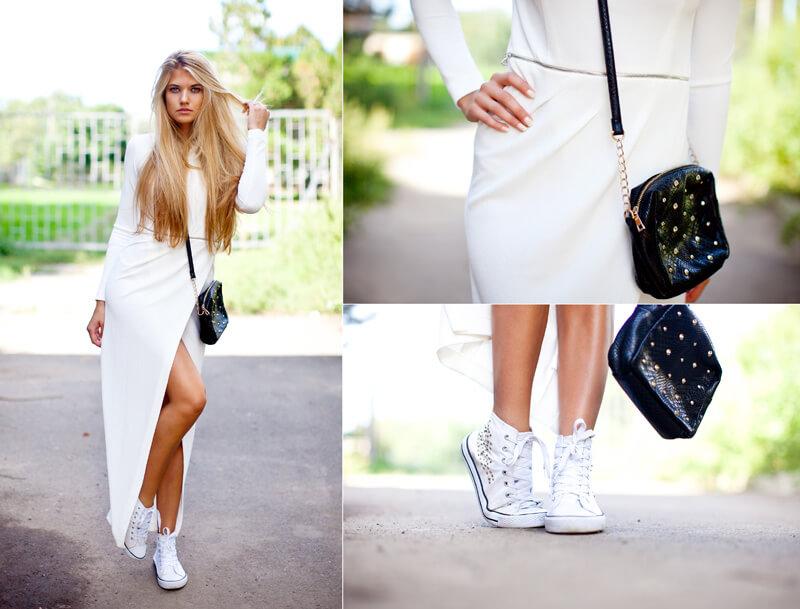 Кеды женские с платьем