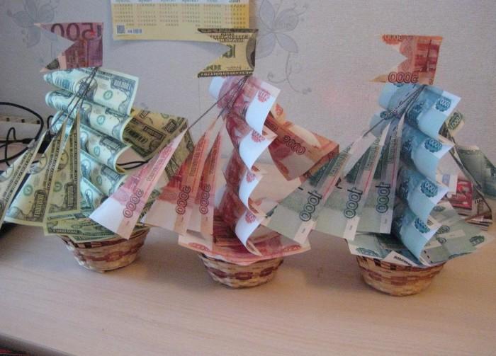 Прикольные подарки на свадьбу своими руками из денег фото