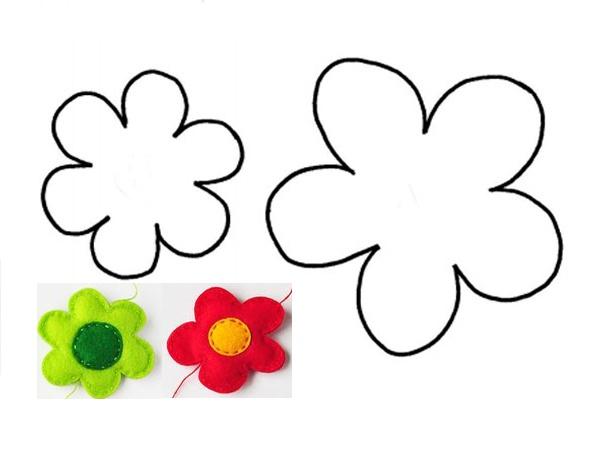 Выкройки из фетра: цветочек