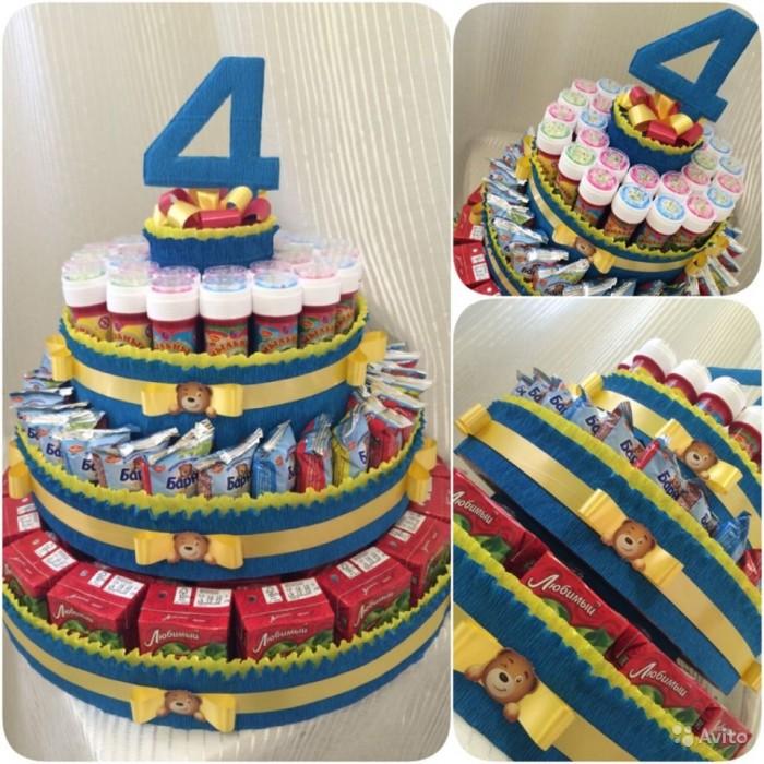 Тортики для детского сада из сока и конфет своими руками фото 100