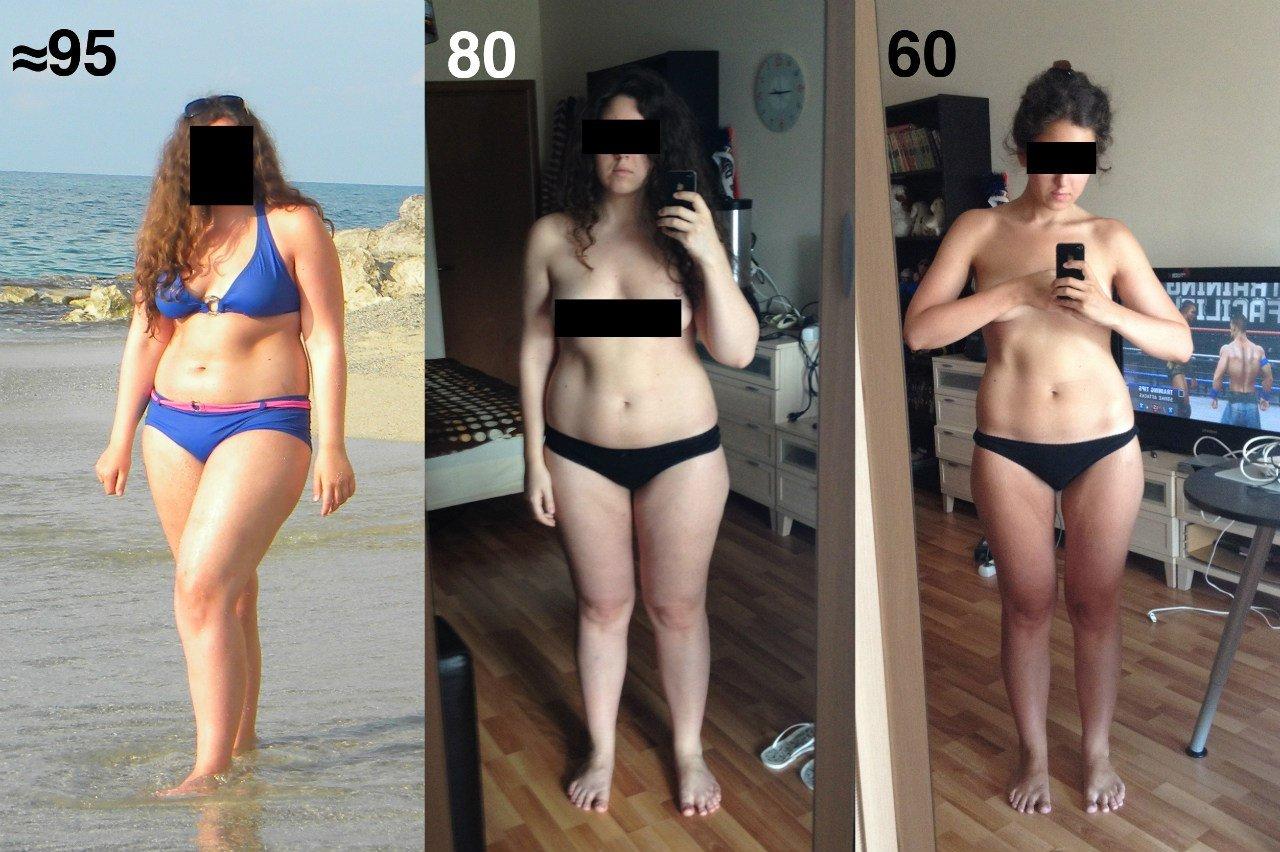 Картинки до и после похудения