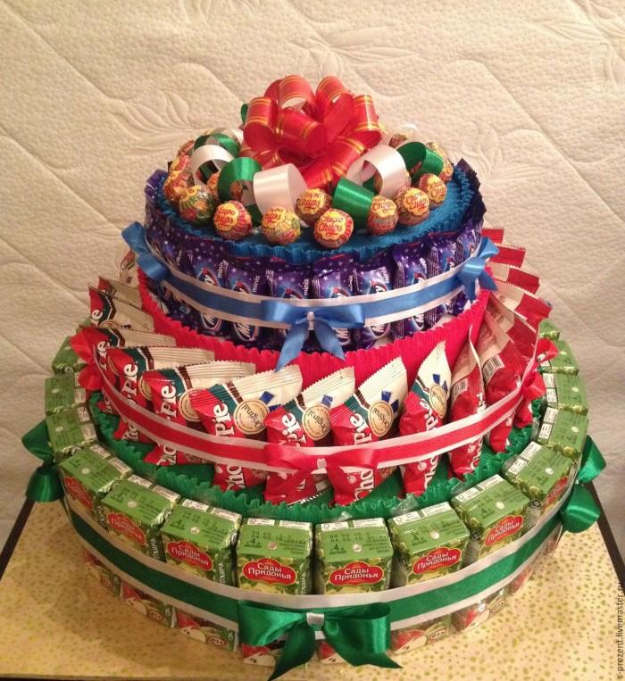 366Торт из конфет своими руками на день рождения ребенка видео