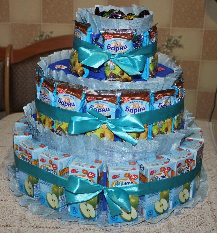 Детский торт из барни и сока
