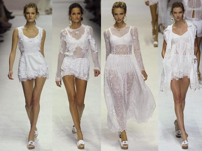 Прозрачное белое платье с чем носить