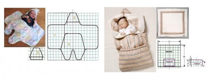 Конверт для новорожденного своими руками (фото выкройка) 94