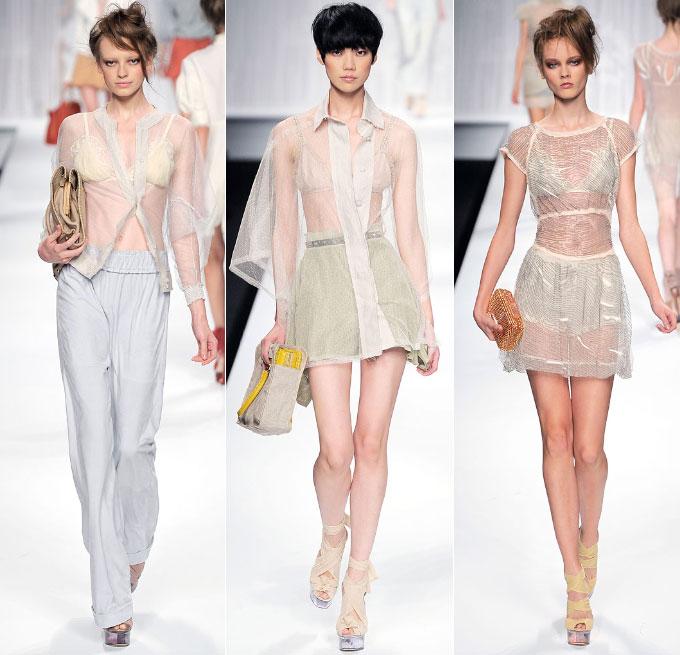 Прозрачные блузки и платья