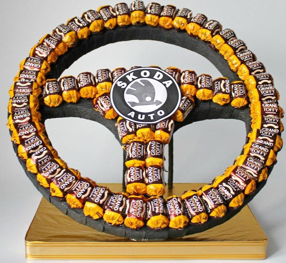 Руль из конфет своими руками мастер класс фото ауди