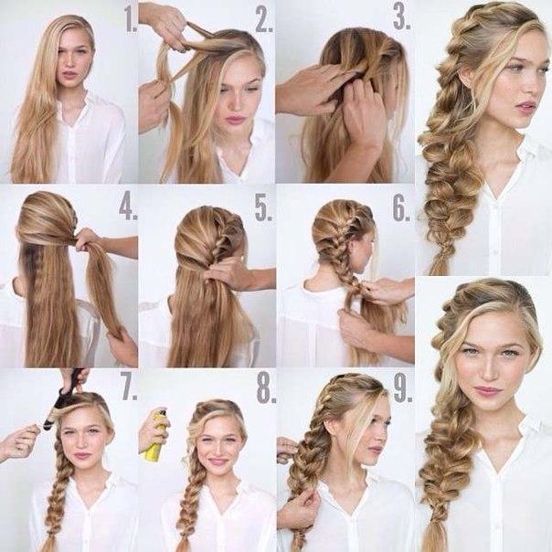 Необычные прически на длинные волосы своими руками
