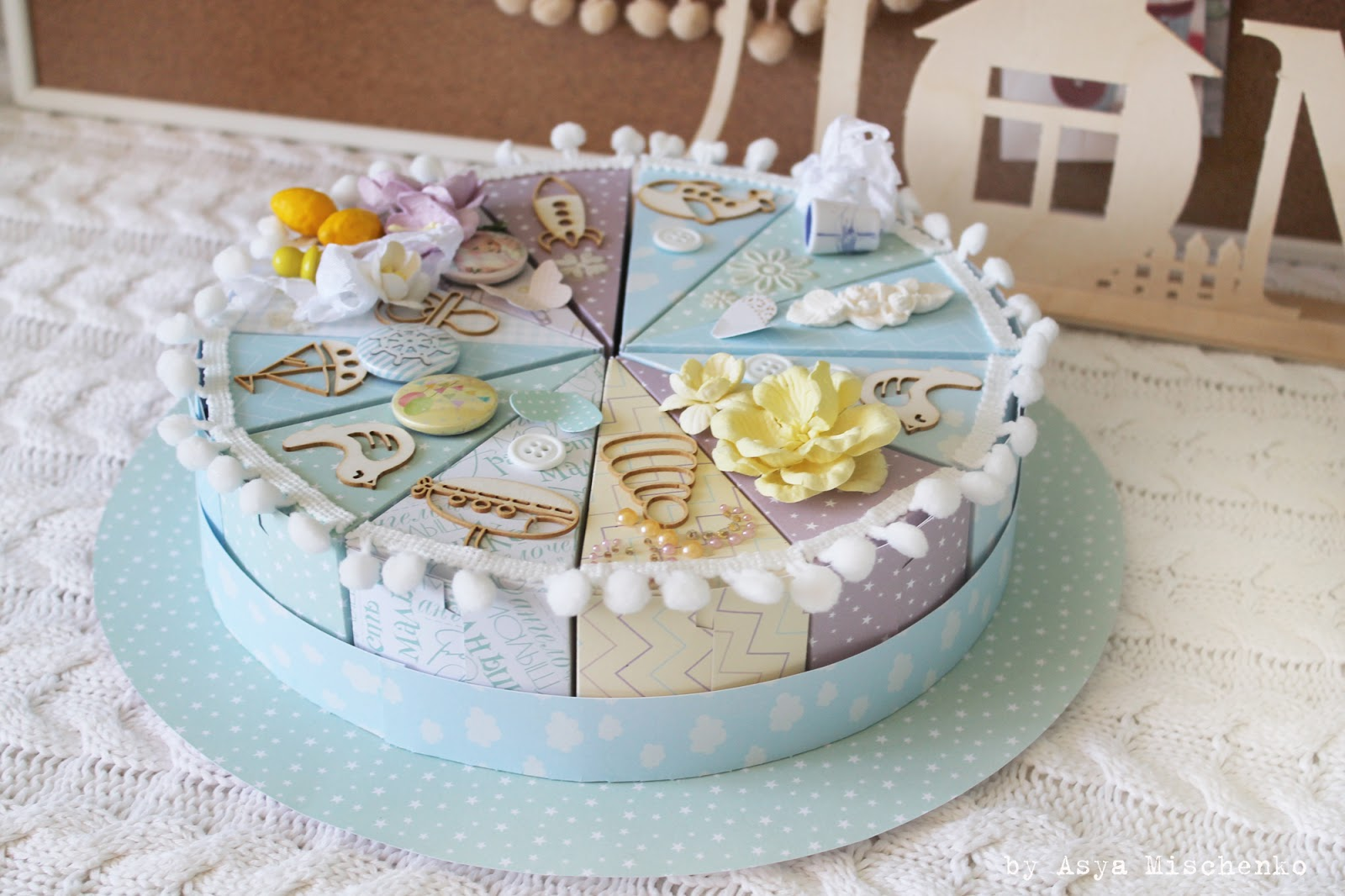 Как сделать на торт голубой 30