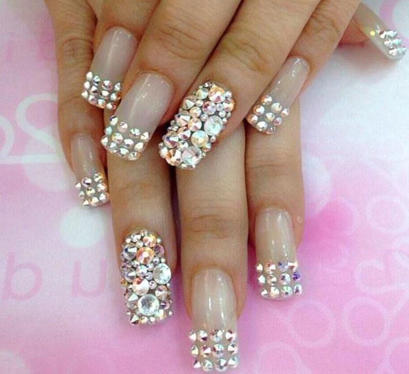 рисунки на ногтях фото с камнями
