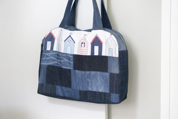 Оригинальная пляжная сумка своими руками 10