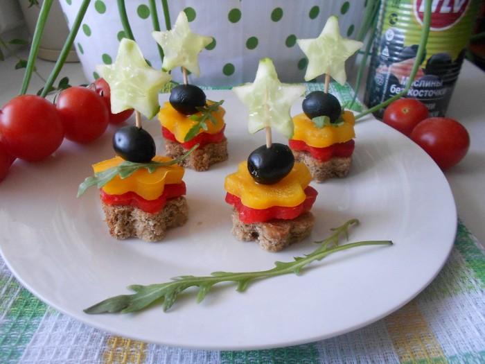 Канапе из овощей рецепты с фото