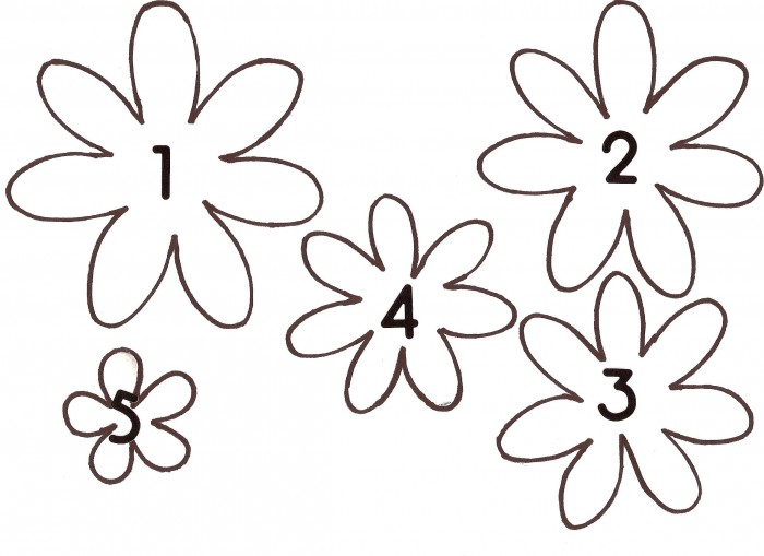 Шаблон для цветов из фоамирана