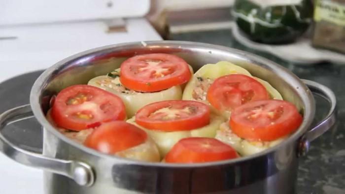 фаршированные перцы с фаршем и рисом для заморозки рецепт