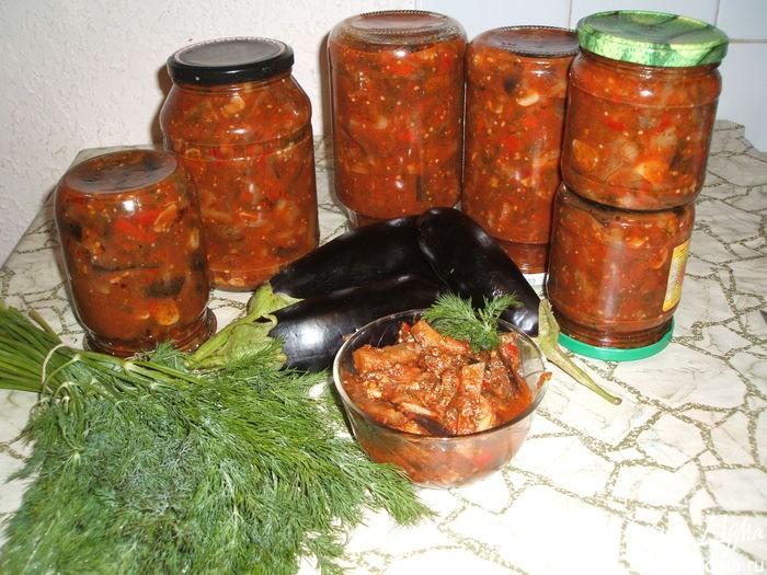 Лечо с баклажанами на зиму рецепты с фото пошагово