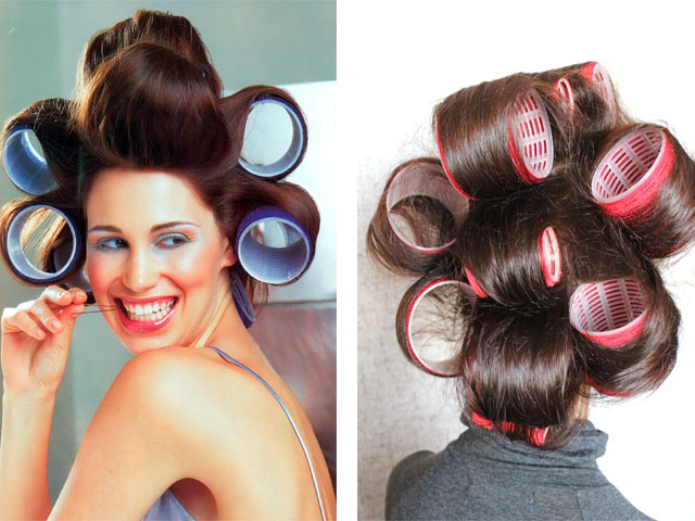 Бигуди для длинных волос после