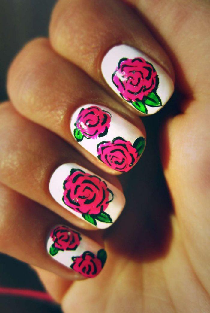 Розы акриловой краской