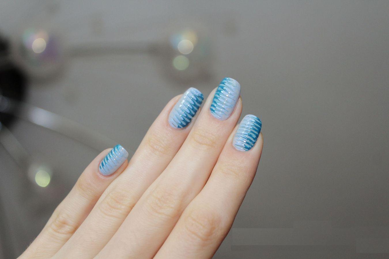 Схемы рисунков на ногтях иголкой фото пошагово