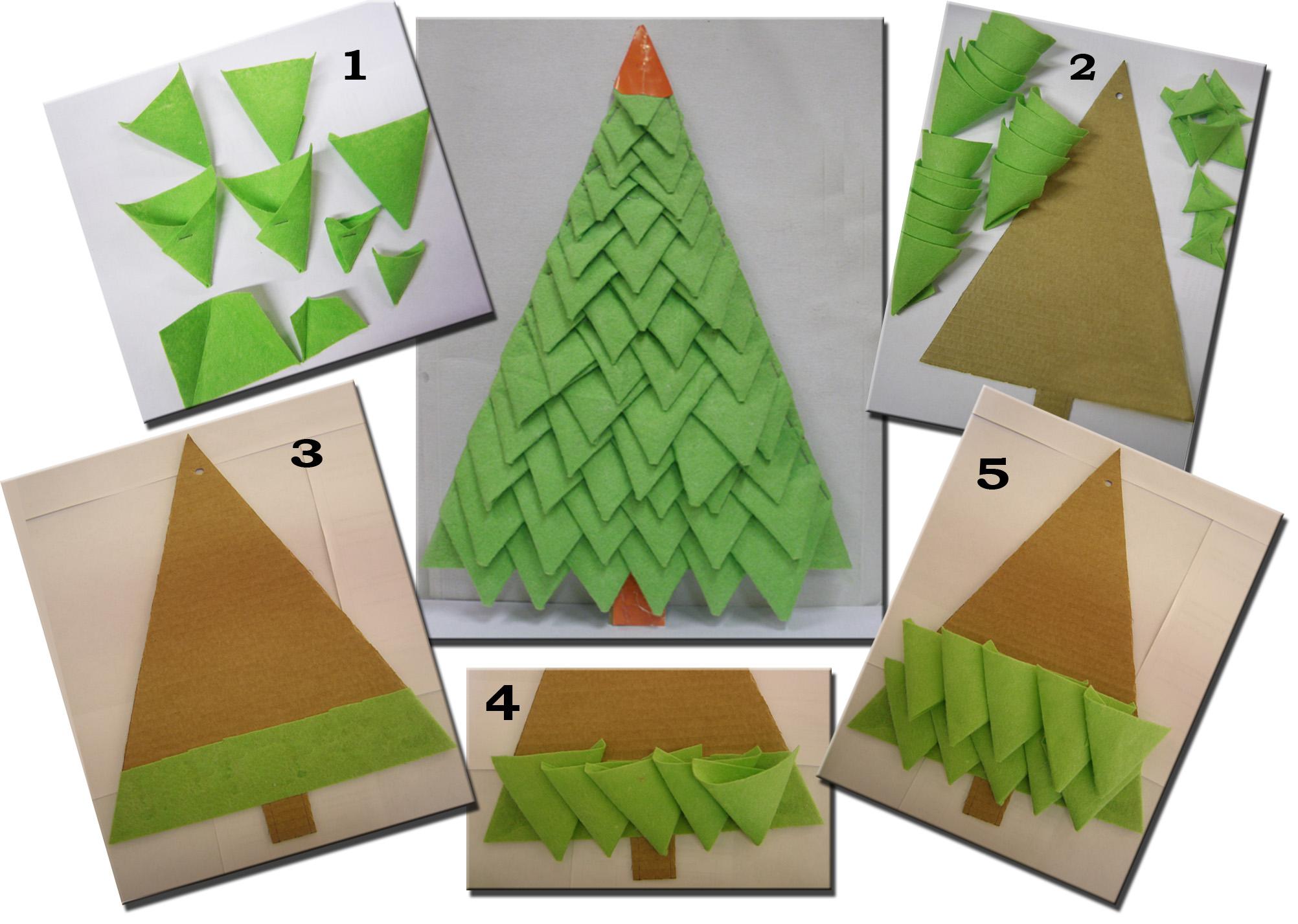 схема новогодней елки из фетра