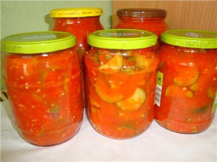Салаты на зиму из помидоров рецепты быстро и вкусно