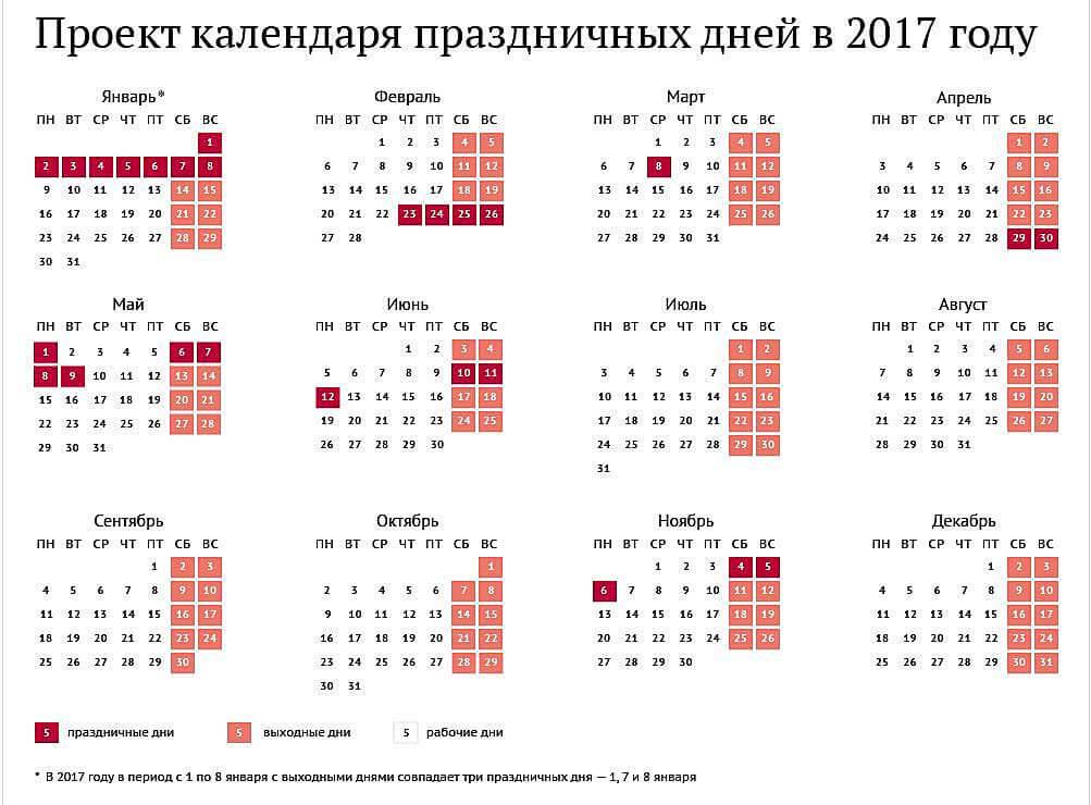 Официальные выходные на Новый год 2017