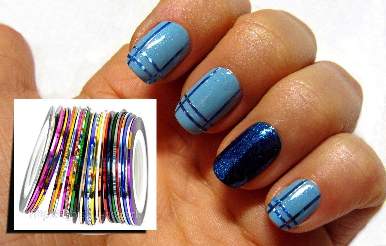 Дизайн ногтей с помощью скотч ленты