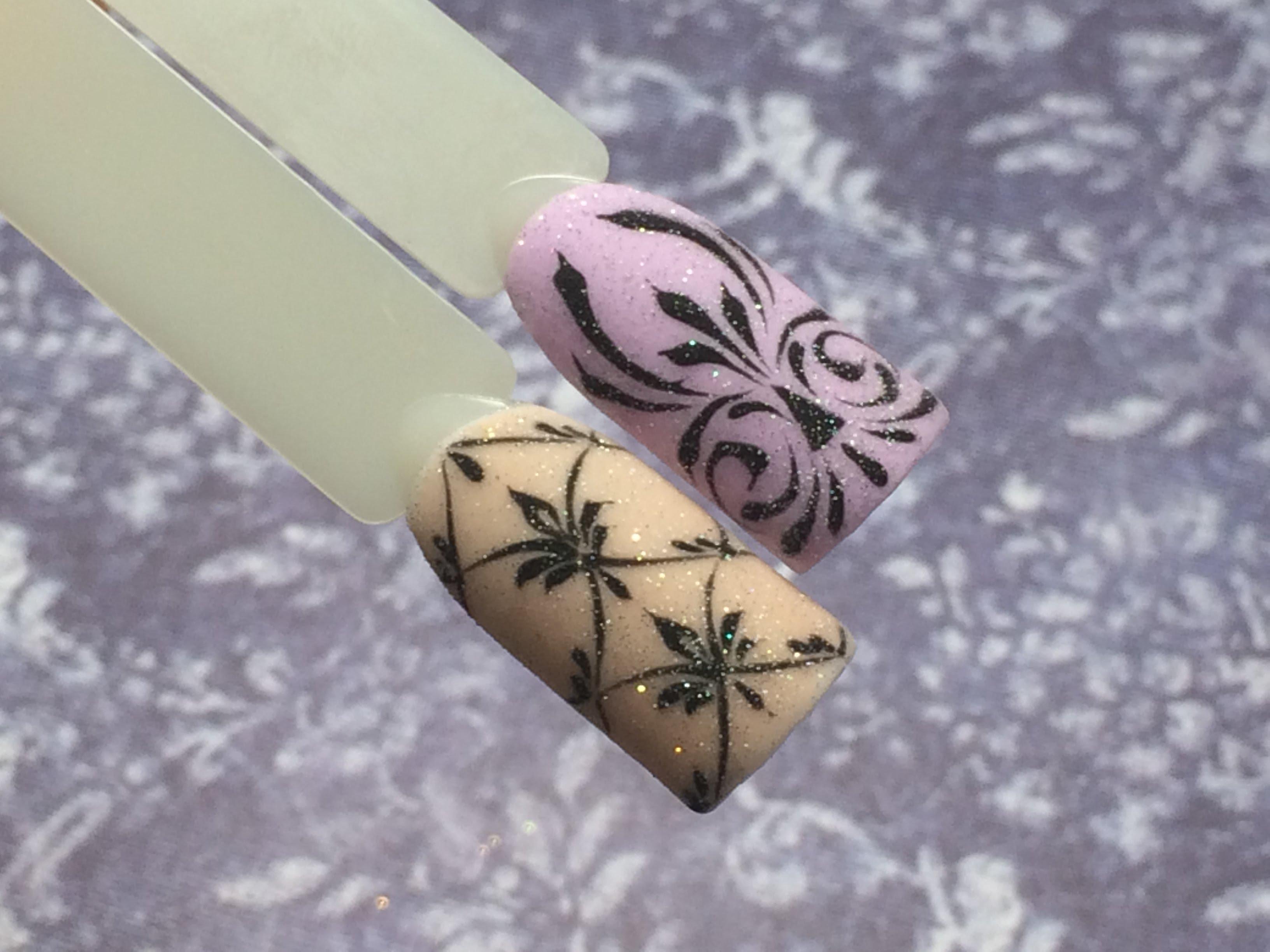 схема росписи на ногтях.