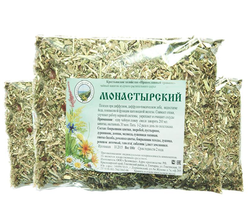 монастырский чай для похудения в аптеке