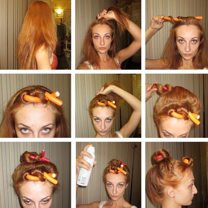 Как накрутить волосы на папильотки пошаговое фото