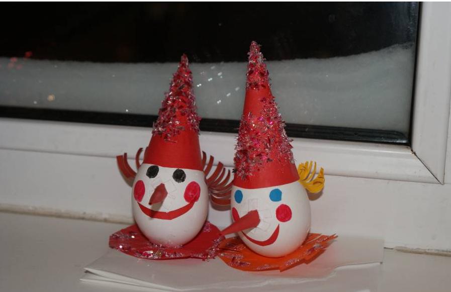 Как сделать елочную игрушку из яичной скорлупы