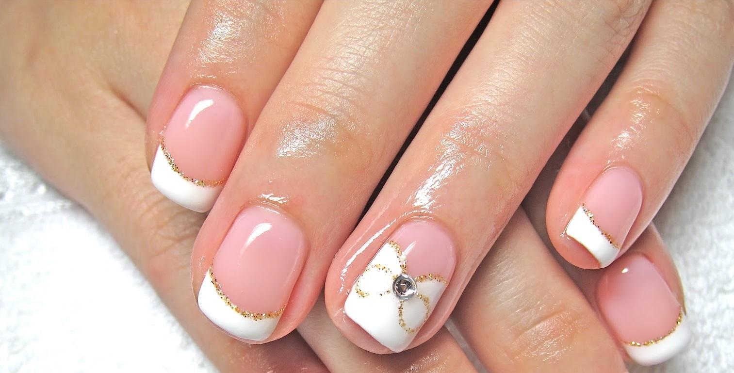 френч на короткие ногти с рисунком