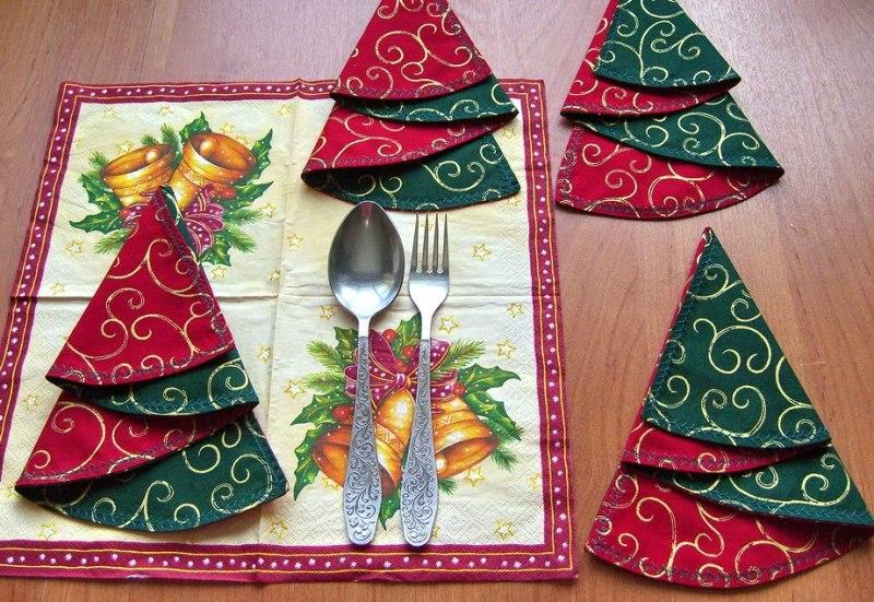 Салфетки к новогоднему столу