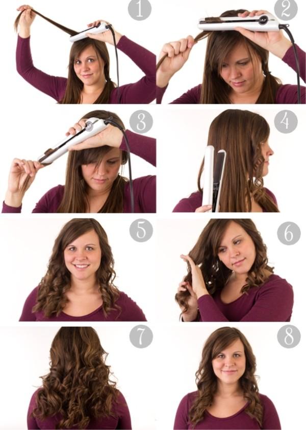 Крутим утюжком волосы