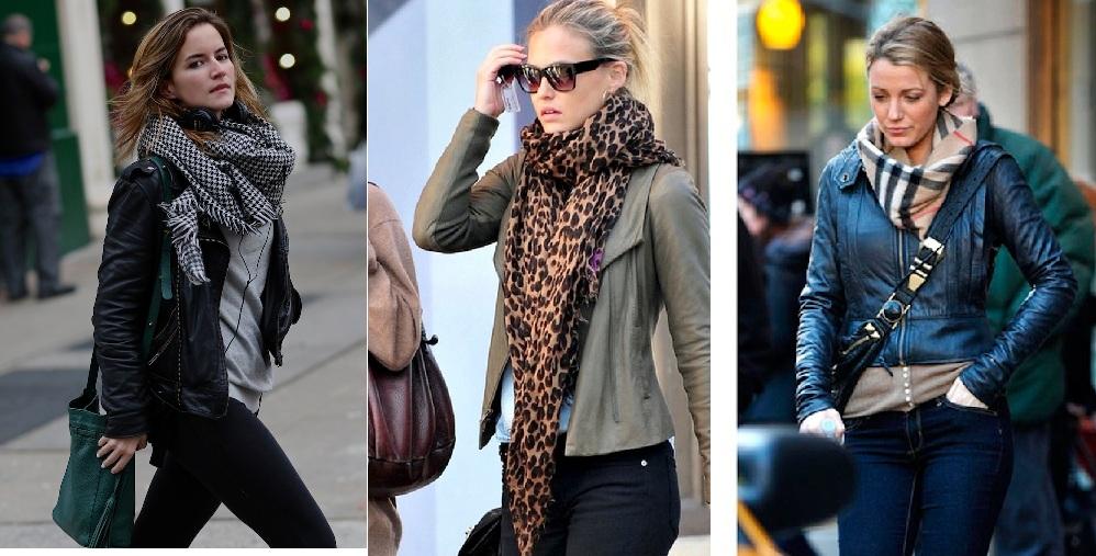 Как завязывать шарф на куртке красиво видео