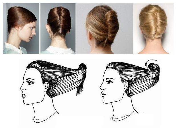 Как сделать ракушку на средних волос 311
