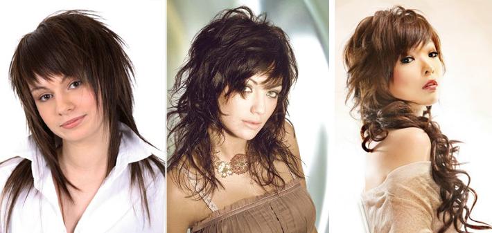 Женские стрижки на средние волосы рваные