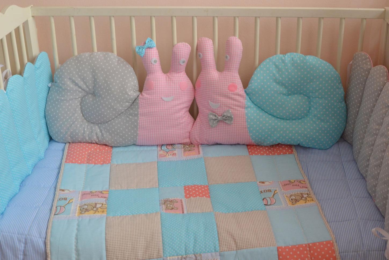 Защита в детскую кроватку подушки своими руками 24