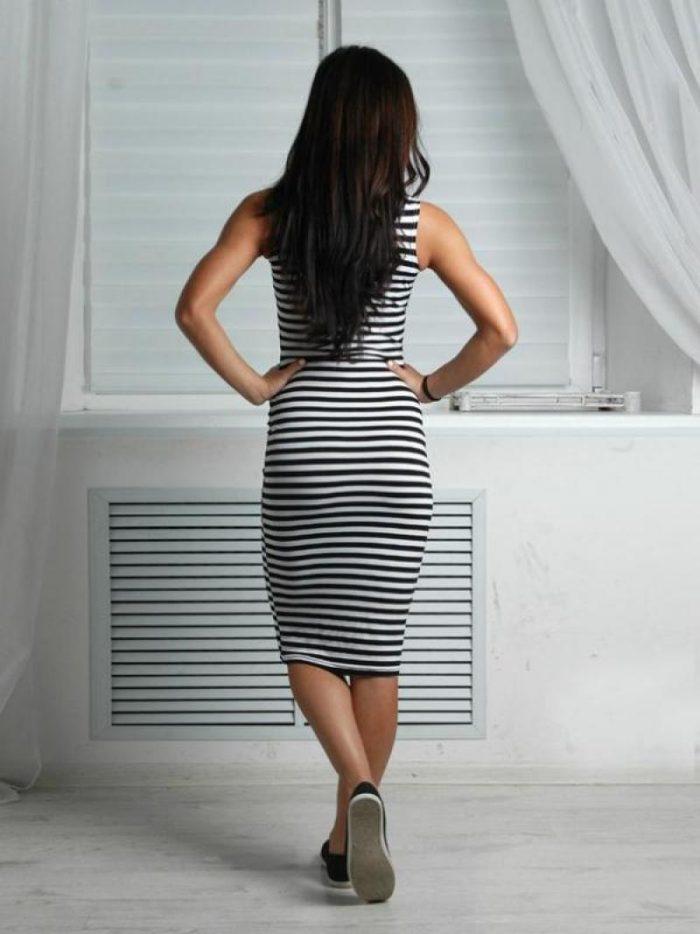 Черные платья ниже колена в обтяжку